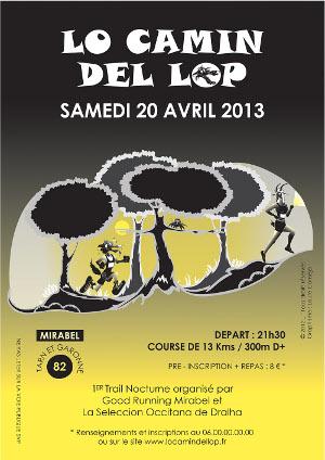 Camin del Lop & Course des Coteaux Mirabel (82) les 20 & 21 avril Affiche400